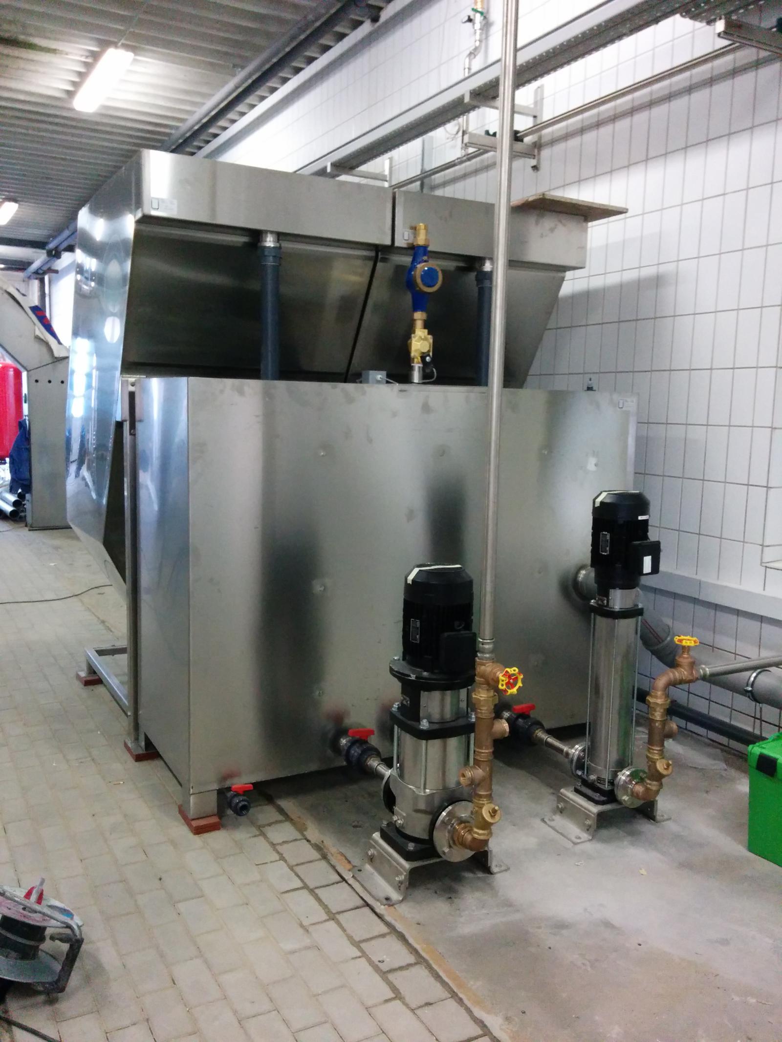 BioClassic System mit 40m³/h Leistung (Parallelaufstellung) an einer Großwaschstrasse