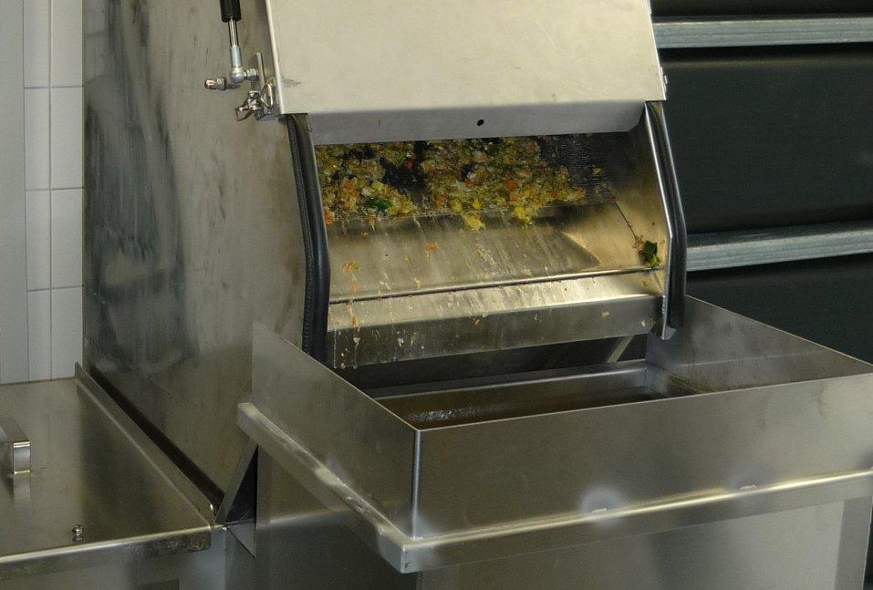 Abtrennung von Speiseresten aus Küchenabwasser