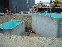 Überwachung des Erdeinbaus von Behandlungsbecken eines BioClassic für eine Waschstrasse