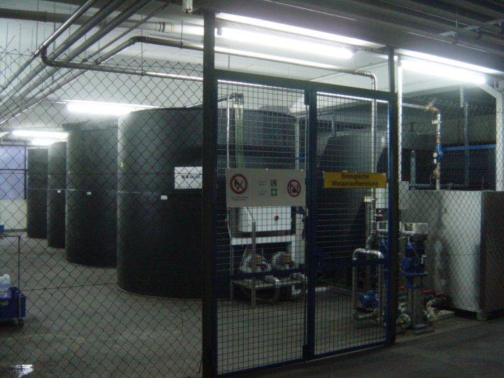 BioClassic System für 15 m³/h bei der Gesellschaft für Strassenbahnen im Saartal AG, Saarbrücken (Dezember 2006)