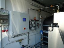 Nachrüstung eines BioClassic in vollständig oberirdischer Ausführung in einer Fertiggarage als Technikraum