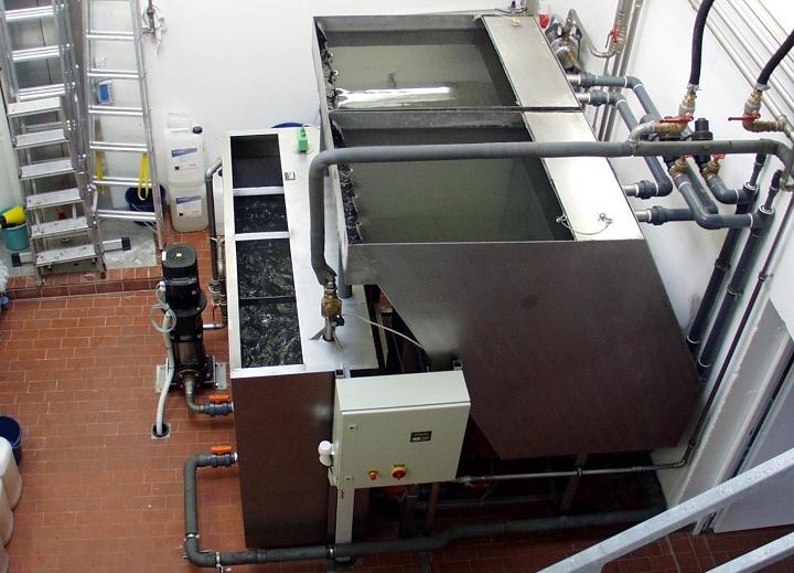 Ansicht BioClassic 30m<sup>3</sup>/h (Parallelaufstellung) an einer Waschstrasse
